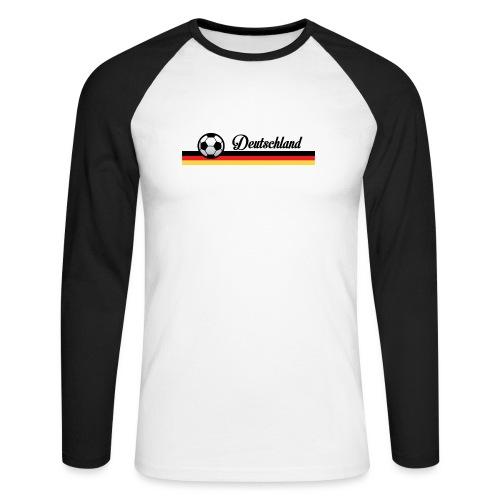 Fahne Deutschland - Mannen baseballshirt lange mouw