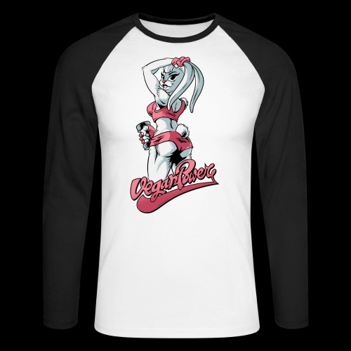 veganpower Fitness Bunny - Männer Baseballshirt langarm