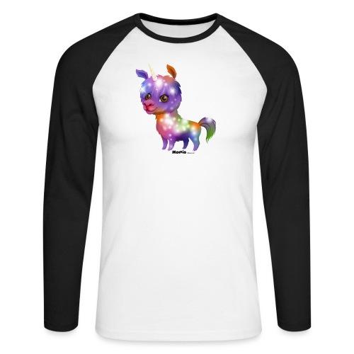 Llamacorn - Langermet baseball-skjorte for menn