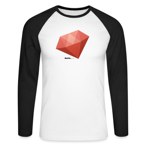 Diamant - Langærmet herre-baseballshirt