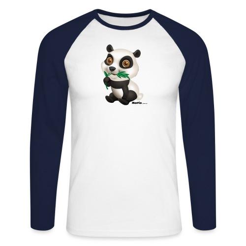 Panda - Langærmet herre-baseballshirt