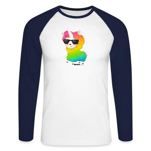 Rainbow animo - Langærmet herre-baseballshirt