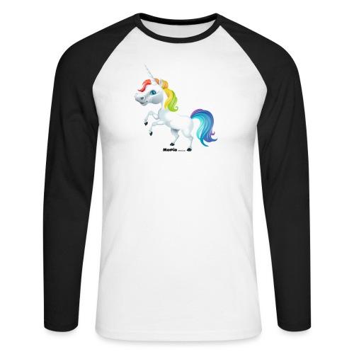 Regenboog eenhoorn - Mannen baseballshirt lange mouw