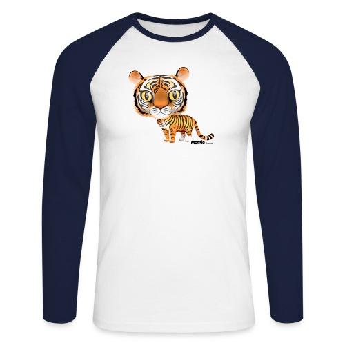 Tiger - Langærmet herre-baseballshirt