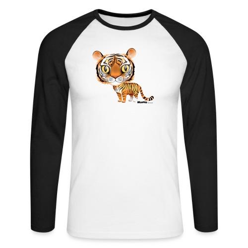 Tiger - Langermet baseball-skjorte for menn