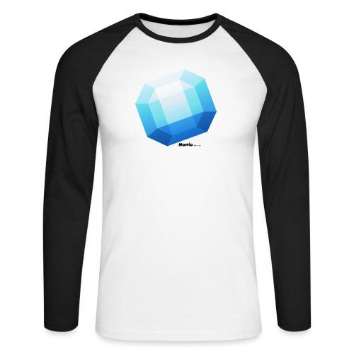 Safir - Langærmet herre-baseballshirt