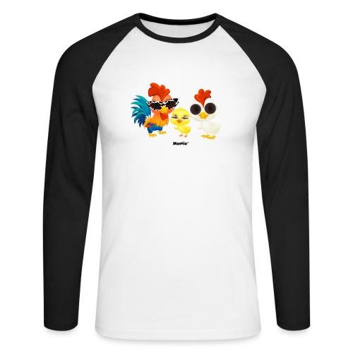 Huhn - von Momio Designer Emeraldo. - Männer Baseballshirt langarm
