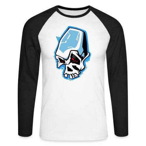 Skull Graffiti - T-shirt baseball manches longues Homme