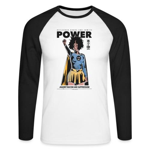 POWER - Männer Baseballshirt langarm