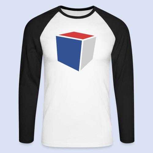 Cube Minimaliste - T-shirt baseball manches longues Homme