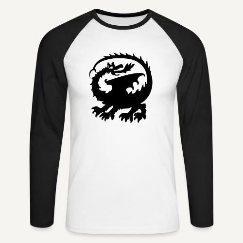 smok3 - Koszulka męska bejsbolowa z długim rękawem