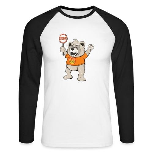 FUPO der Bär. Druckfarbe bunt - Männer Baseballshirt langarm
