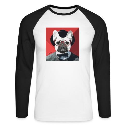 French Bulldog Artwork 2 - Männer Baseballshirt langarm