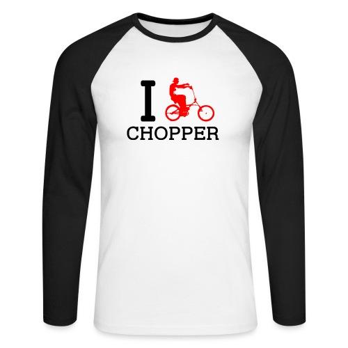 ichopper - T-shirt baseball manches longues Homme