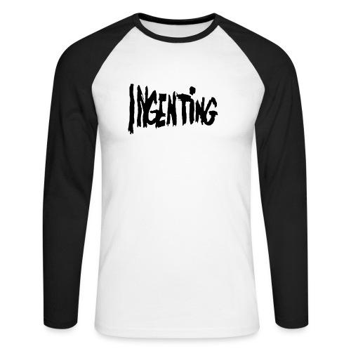 ingenting logo - Langermet baseball-skjorte for menn