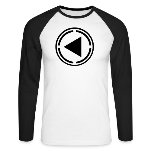 black logo last time - Men's Long Sleeve Baseball T-Shirt