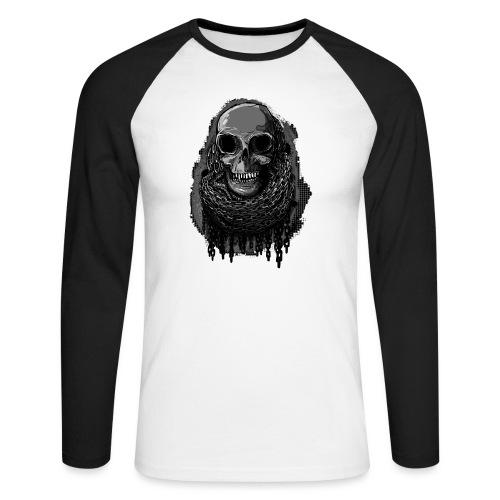 Skull in Chains - Men's Long Sleeve Baseball T-Shirt