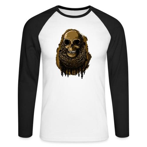 Skull in Chains YeOllo - Men's Long Sleeve Baseball T-Shirt