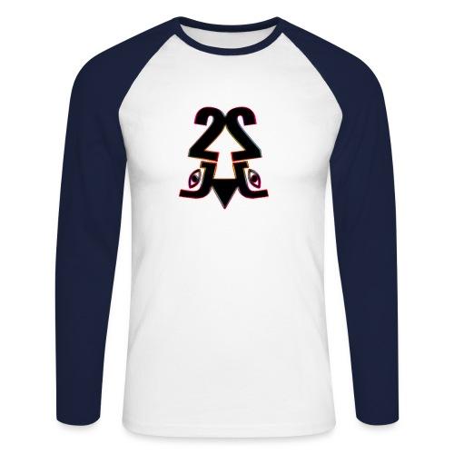 2j_Rainbow - Langærmet herre-baseballshirt