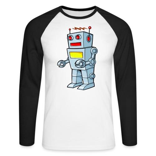 Robot - Maglia da baseball a manica lunga da uomo