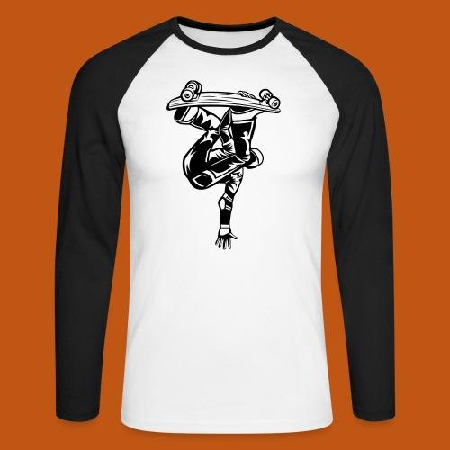 Skater / Skateboarder 03_schwarz weiß - Männer Baseballshirt langarm