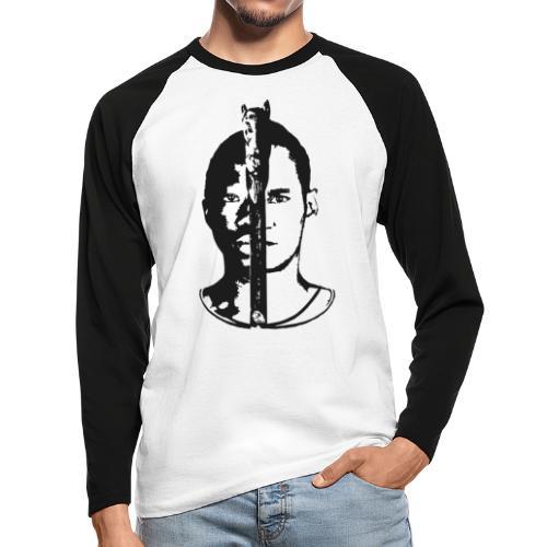 Frères - Black & white  - T-shirt baseball manches longues Homme