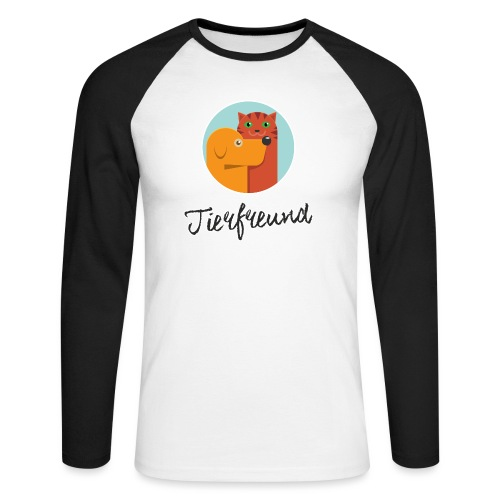 Tierfreund mit Schriftzug - Männer Baseballshirt langarm