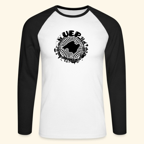 UEP white background - Men's Long Sleeve Baseball T-Shirt