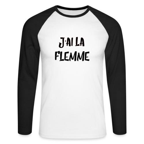 J'ai la FLEMME - T-shirt baseball manches longues Homme
