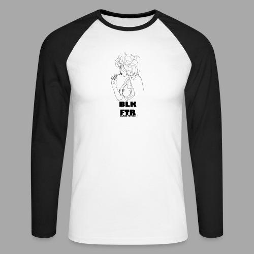 BLK FTR N°6 - Maglia da baseball a manica lunga da uomo