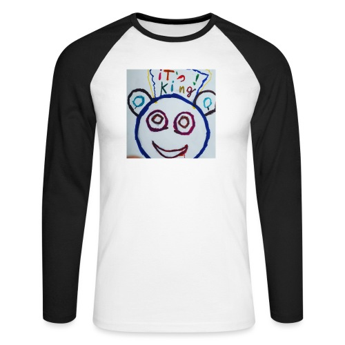 de panda beer - Mannen baseballshirt lange mouw