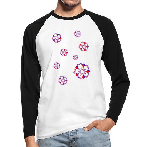 Sakura Psycho - T-shirt baseball manches longues Homme