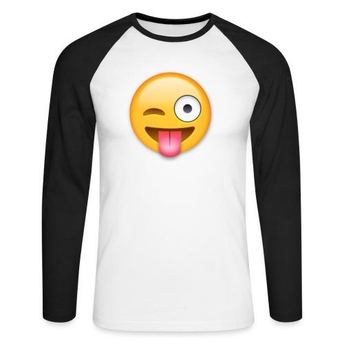 Winking Face - Männer Baseballshirt langarm