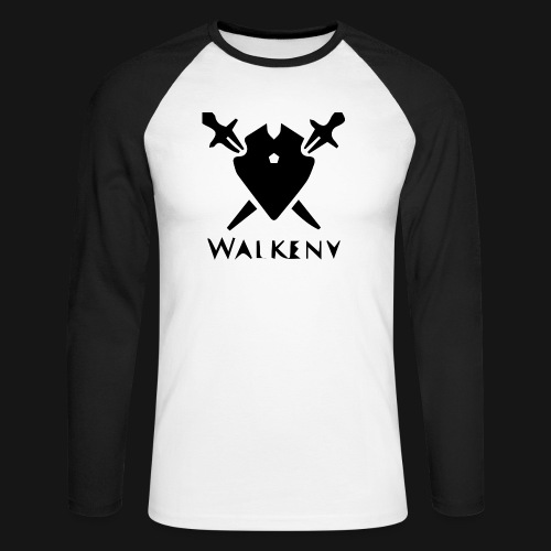 Walkeny Schwert Logo! - Männer Baseballshirt langarm