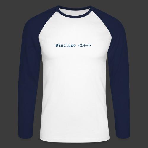 Blue Include Logo - Men's Long Sleeve Baseball T-Shirt