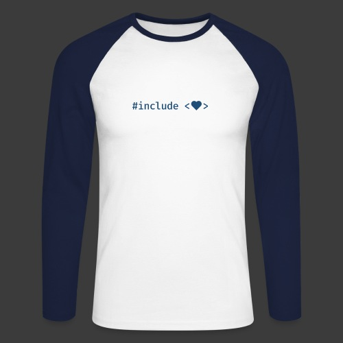 Blue Include Heart - Men's Long Sleeve Baseball T-Shirt
