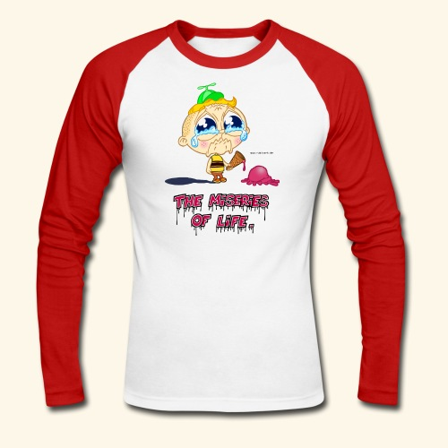 The Miseries of Life Eiscreme Eis Kind - Männer Baseballshirt langarm