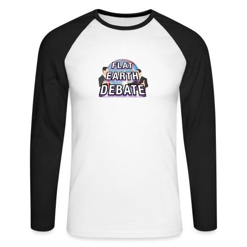 Flat Earth Debate - Men's Long Sleeve Baseball T-Shirt
