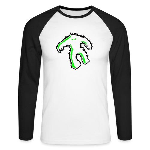 si monster stencil - Männer Baseballshirt langarm