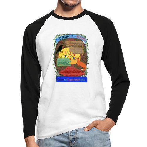 Le Corbeau et le Renard (Jean de la Fontaine) - T-shirt baseball manches longues Homme