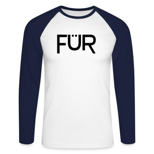 fuer shirt black 01 - Men's Long Sleeve Baseball T-Shirt