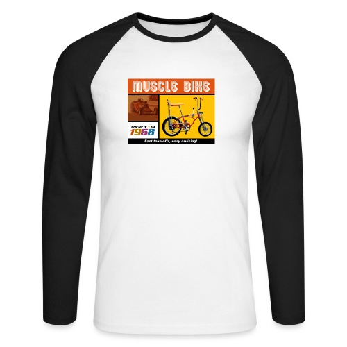 musclebike05 - T-shirt baseball manches longues Homme