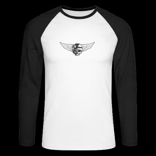 Biker skull - Men's Long Sleeve Baseball T-Shirt