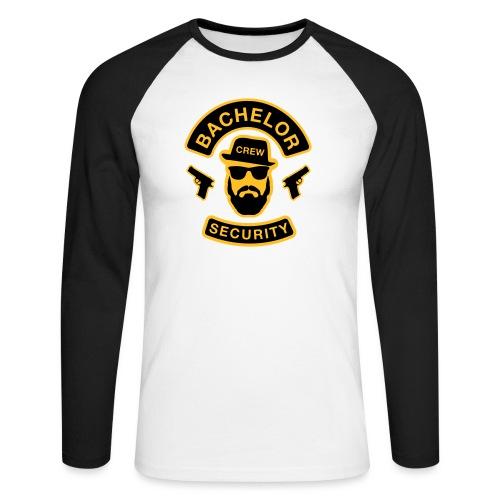 Bachelor Security - JGA T-Shirt - Bräutigam Shirt - Männer Baseballshirt langarm
