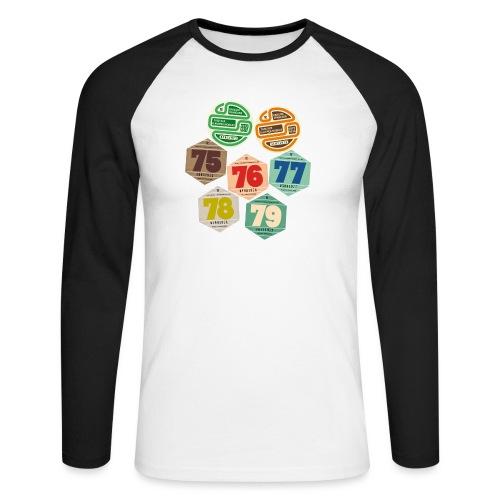 Vignettes automobiles années 70 - T-shirt baseball manches longues Homme
