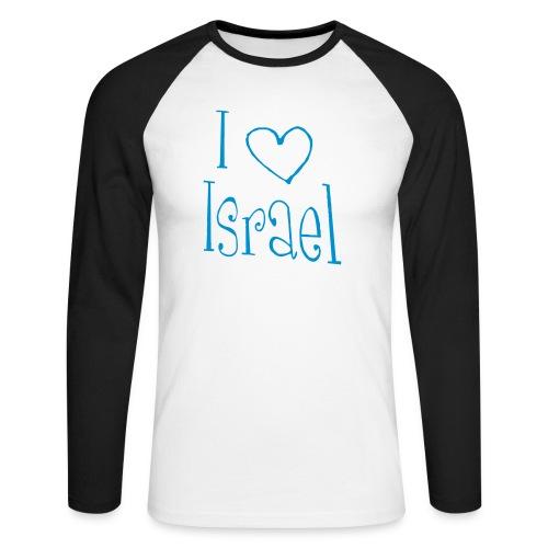 I love Israel - Männer Baseballshirt langarm