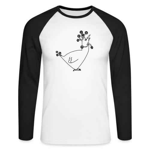 Cosmic Chicken - Men's Long Sleeve Baseball T-Shirt