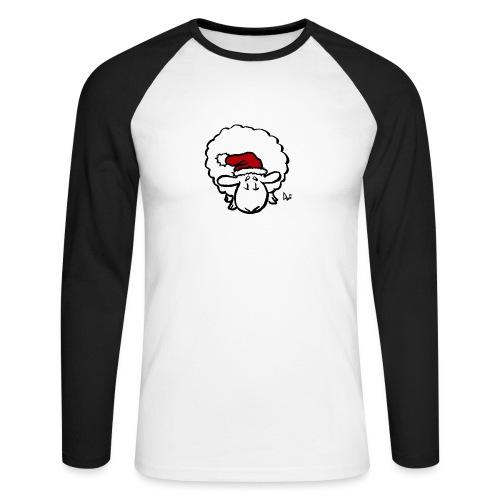 Santa Sheep (red) - Langermet baseball-skjorte for menn