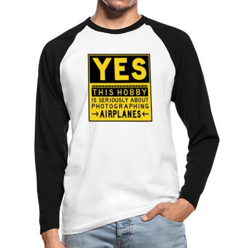 O co chodzi w planowaniu - znak fartucha - Koszulka męska bejsbolowa z długim rękawem