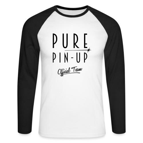 Pure Pin-up Support - Men's Long Sleeve Baseball T-Shirt